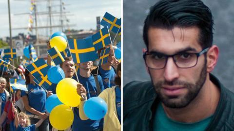 Debattören Nasser Naje Lazem Bild: JANERIK HENRIKSSON / TT