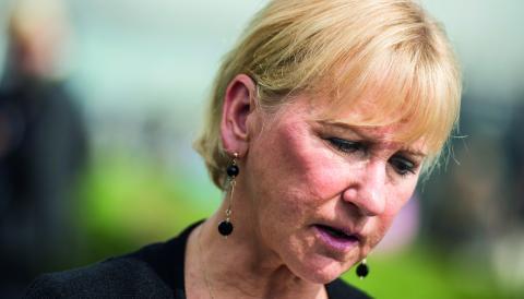 """""""Vår utrikesminister får dock ta mycket stryk för att Sverige tillkännager sin egen vilja i utrikespolitiska frågor"""", skriver debattören.  Bild: Pontus Lundahl/TT"""