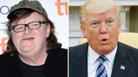 Journalisten Michael Moore, president Donald Trump Bild: Ap