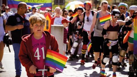 I Norrköping ska du få vara vem du vill och älska vem du vill. Det är målet med Norrköping pride som i år arrangeras för elfte gången.  Bild: Norrköping pride