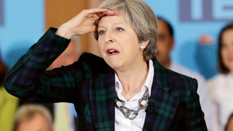 Storbritanniens konservativa premiärminister Theresa May.  Bild: Chris Radburn/AP/TT