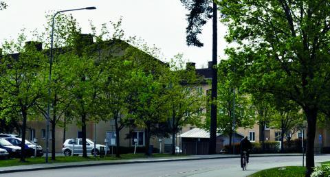 Fastigheter vid Skallbergsgatan som det kommunala bostadsbolaget Mimer planerar att sälja till en ny hyresvärd.  Bild: Joni Nykänen