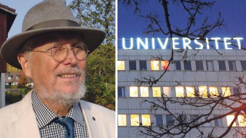 Lars Broman, professor vid och rektor för Strömstad akademi. Bild: Privat / Anders Wiklund/TT