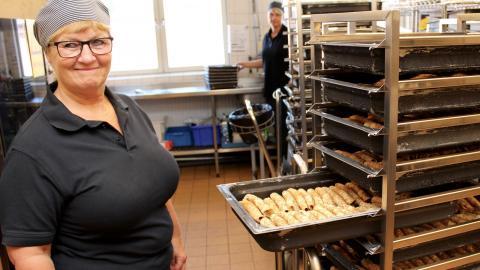 När ETC Norrköping besökte kökschefen Monika Hertzman på Söderportens skola stod det raggmunk från Findus på menyn.  Bild: Lisa Karlsson