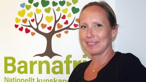 Moa Mannheimer är chef för det nationella kunskapscentret Barnafrid i Linköping.  Bild: Eva Bergstedt