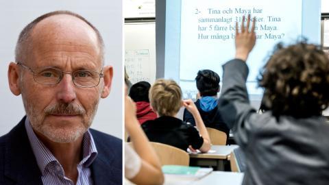 Sten Svensson, skoldebattör, före detta chefredaktör för Lärarnas tidning Bild: Privat, Lars Pehrson / SvD / TT /
