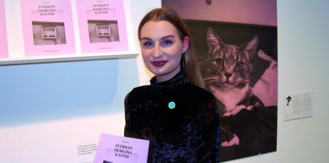 Hanna Kastl-Lungberg, vill rädda de hemlösa katterna i ett reportage framställt genom grafisk design. Bild: edgar Weibull