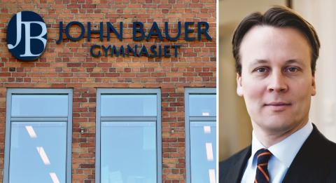 John Bauer-gymnasiet / Vilhelm Sundström. Bild: Henrik Montgomery/TT / Axcel.