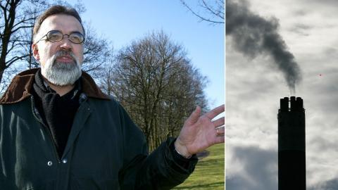 Anders Lindroth forskar i miljöförstörning och tror inte att jordens naturliga förmåga att ta upp koldioxid har försämrats.   Bild: Stig-Åke Jönsson/TT
