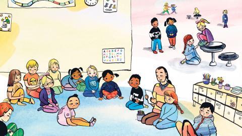 """I """"Ninna och stormskolan""""  börjar Ninna skolan. För författaren Matilda Ruta är det viktigt att alla barn någon gång ska kunna känna igen sig."""