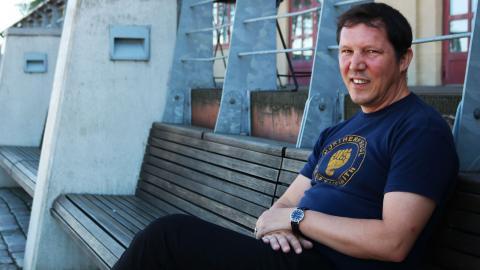 Olav Fumarola Unsgaard är projektledare för Bokmassan och förlagsredaktör på Leopard förlag.  Bild: Sanna Arbman Hansing