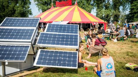 Klimatlägret, Climate Camp Sweden, är inspirerat av liknande läger som anordnats i bland annat Tyskland och England.  Bild: Paul Wagner