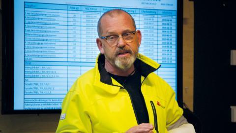 """""""De som jobbar måste kunna göra det utan att riskera liv och hälsa"""", säger Johan Lindholm, Byggnads förbundsordförande."""