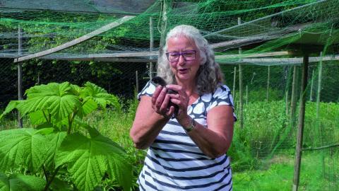 Pia Larsson och hennes man var med i det arbetslag som jobbade med att sätta idén om ekobyn i verk. Bild: Daniel Johansson