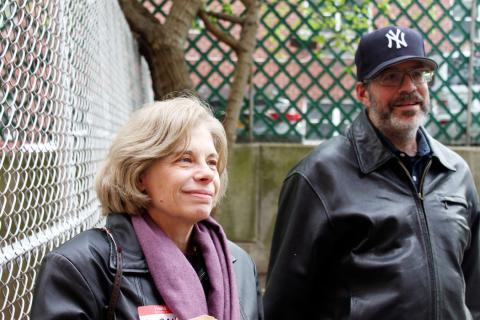 Sarah Biondello och David Knapp känner sig splittrade inför att Indivisible använder sig av Tea Party-rörelsens taktik. Bild: Anja Löfman & Alexandra Andersson