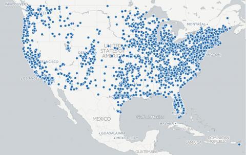 På några månader har 6000 lokala grupper över hela landet organiserat sig. Bild: Indivisible