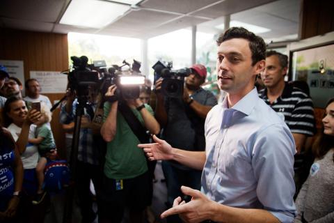 Jon Ossoff, den demokratiske kandidaten i Georgia. Bild: David Goldman/TT