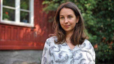 """""""Tanken är att bygga upp ett community där vi kan hänga och lära känna varandra"""", säger Fanny Sannerud, en av klimatlägrets initiativtagare.  Bild: Hanna Sistek"""