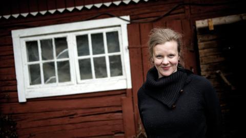 Gertrud Hellbrand är också lärare på skrivarlinjen Textlabbet på Bona folkhögskola.  Bild: TT