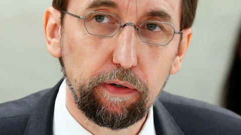 Zeid Ra'ad Al Hussein, FN:s kommissionär för mänskliga rättigheter. Bild: AP/TT