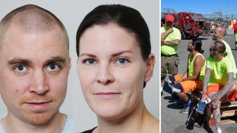 Karin Åkersten & Gunnar Westin, Seko Stockholm / Strejkande sophämtare. Bild: Seko / Jonas Ekströmer/TT