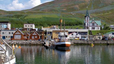 Húsavík i Norðurþing. Bild: Chris 73/Wikipedia