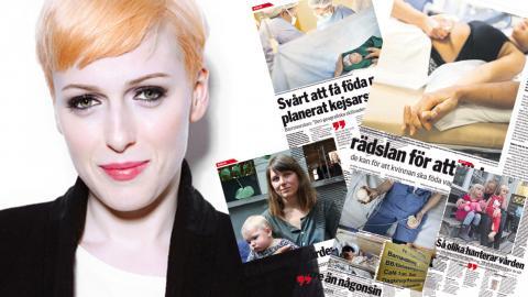 """Cissi Wallin är en av initiativtagarna till """"Arg jävla riks-marsch mot BB-kaosetI Foto: Viktoria Wyckman Ågren"""
