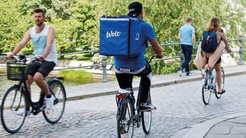 Cykelbuden som levererar mat är ofta studenter, arbetslösa och personer i behov av extra pengar. Bild: Amar Bajric