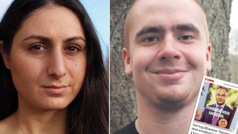 Caroline Rhawi, LUF Storstockholm, 1:a vice ordförande Oscar Matti, Liberala Studenter, riksstyrelseledamot. Bild: Privat,