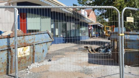 Det första steget i flyttkedjan är att den ombyggnad som nu pågår av Terassen blir klar i tid.  Bild: Rolf Larsson