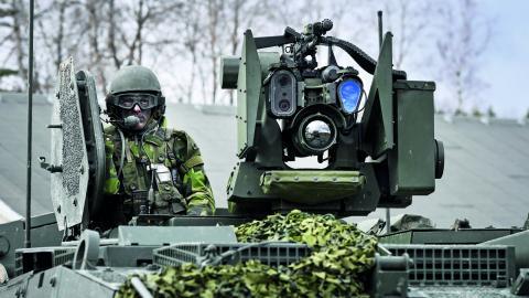 Kvinnor för fred i Sundsvall ifrågasätter att främmande makt deltar i militärövningen Aurora i september. Bild: PONTUS LUNDAHL/TT