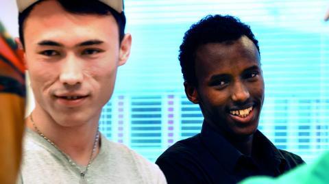 Mujtaba och Abdinoor är några av deltagarna.  Bild: We Act