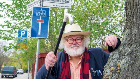 "Christer ""Fjellis"" Fjellman driver Planket-projektet helt ideellt. Bild: Johan Lindsten"