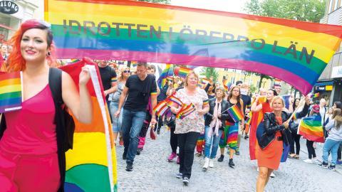 Det är många som sluter  upp bakom alla människors  rätt till lika värde genom att  delta i paraden. Bild från 2016.  Bild: Johan Sjöström/Johansjo photography