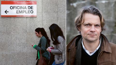 Bland spanska ungdomar (15–24 år) är knappt 45 procent arbetslösa medan 70 procent av de ungdomar som har jobb går på korta kontrakt som ofta bara löper på några dagar. Bild: Antonio Heredia/AP/TT