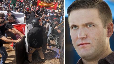Protester i Charlottesville / Richard Spencer. Bild: Steve Helber/Linda Davidson/AP/TT