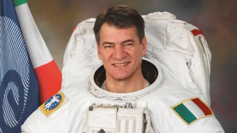 Astronauten Paolo A Nespoli som kommer att befinna sig i rymden under festivalen och deltar i ett samtal inför publik via videolänk.  Bild: Pressbild