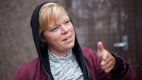 Stella Pilback är projektsamordnare för Hammarkullen Urban Art.  Bild: Jens Hendar