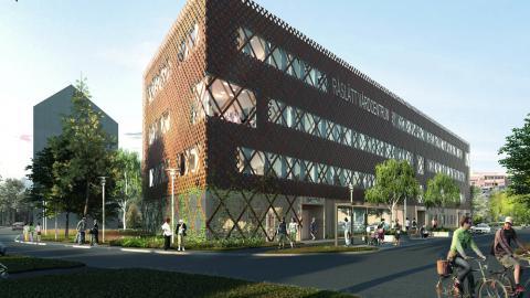 Vårdcentral, folktandvård och familjecentral ska finnas samlat i en helt ny byggnad på centrala Råslätt. Bild: White