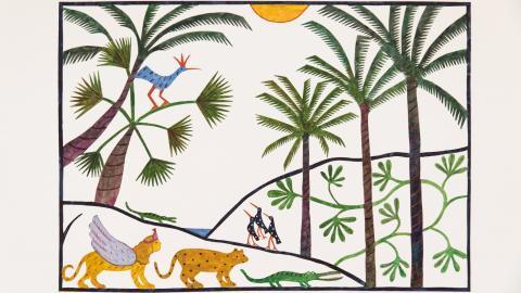 """""""Bland palmer"""" av Agneta Flock. """"Det var med mina pappersklipp som jag från början sökte till och kom in på Konstfack"""", berättar hon. Bild: Agneta Flock"""