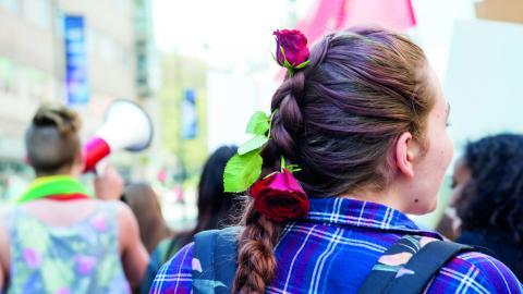 Jönköpings S-kvinnor är en del av Sveriges största kvinnoförbund, och vi tar den feministiska kampen, så länge det behövs. För vi vet att det gör skillnad, skriver  debattörerna.  Bild: Henrik Montgomery/TT