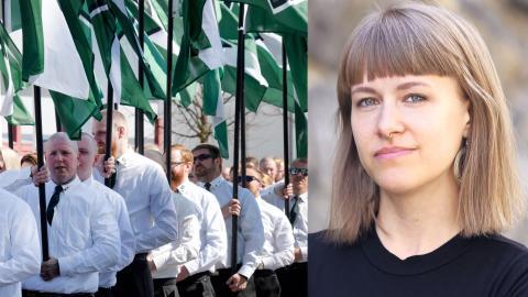 Nordiska motståndsrörelsen / Kristina Wicksell. Bild: Ulf Palm/TT / Make Equal