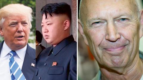 Donald Trump / Kim Jong-Un / Pierre Schorri. Bild: Evan Vucci/AP/TT / AP Photo / Dan Hansson/SvD/TT