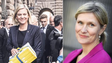 Magdalena Andersson (S) / Katarina Lundahl. Bild: Magnus Hjalmarsson Neidemann/TT/SvD / Pontus Lundahl/TT
