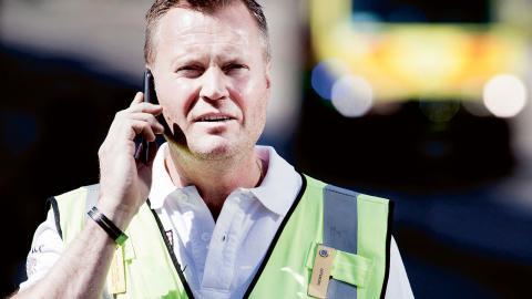 Fredrik Dahlgren är ensam heltidsanställd och ansvarig dialogpolis i Göteborg. Foto: Maria Steén