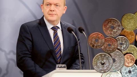 Danmarks statsminister Lars Lökke Rasmussen. Bild: Björn Lindgren/TT (montage)