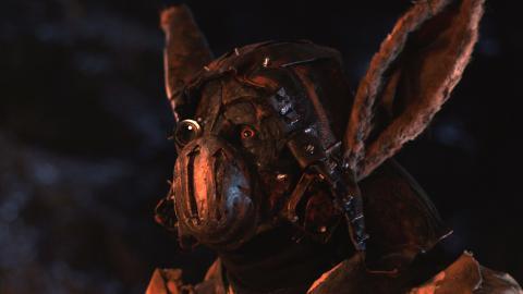"""En av karaktärerna i fantasyfilmen """"Spiritus Lepus"""" som är en blandning av kanin, människa och robot. En av karaktärerna i fantasyfilmen """"Spiritus Lepus"""" som är en blandning av kanin, människa och robot.   Bild: Niklas Beckman Larsson"""