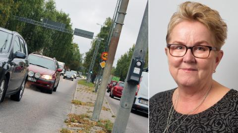 Lena Karlsson Engman (S), ordförande i tekniska nämnden, menar att det är viktigt med en förtätning av staden för att det ska bli lättare att välja andra färdmedel än bilen.  Bild: Liselott Holm/Press