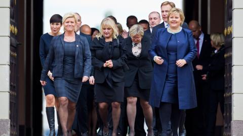 Efter fyra år med Fremskrittspartiet (FRP) och Høyre (H) i regeringen menar många att det politiska klimatet blivit tuffare i Norge.  Bild: Vegard Grøtt/NTB/TT