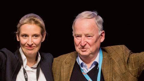 AfD:s företrädare Alice Weidel  och Alexander Gauland.